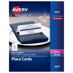 Avery Printable Place Cards Matte Cards Averycom - Card template free: avery place card template
