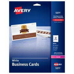Avery printable business cards 2 x 3 12 250 cards 5371 avery avery business cards uncoated two sided printing 2 x 3 12 250 cards 5371 flashek Gallery
