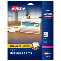 Avery clean edge printable business cards ivory 200 cards 5876 avery clean edge business cards ivory true printreg two sided printing 2 x 3 12 200 cards 5876 colourmoves