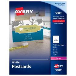 Avery Printable Postcards X Cards Averycom - 4x6 name badge template