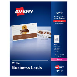 avery printable business cards 2 x 3 1 2 500 cards 5911 avery com
