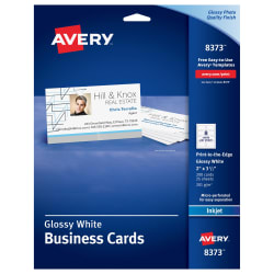 Avery printable business cards glossymatte back 200 cards 8373 media1 fbccfo Images