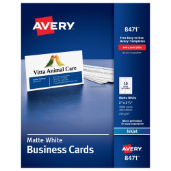 Avery printable business cards 2 x 3 12000 cards 8471 avery media1 flashek Images
