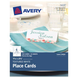 Avery Place Cards Uncoated Cards Averycom - Avery place cards template