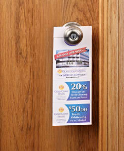 avery printable door hanger with tear away cards matte 80 cards