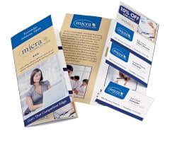 avery tri fold brochure with tear away cards 8 1 2 x 11 50
