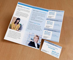 Avery TriFold Brochure With TearAway Cards X - Avery brochure template