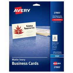 avery printable business cards 100 cards 27833 avery com