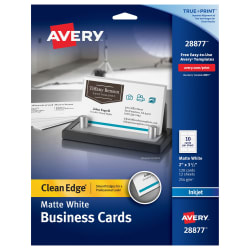 Avery clean edge printable business cards matte 120 cards 28877 media1 reheart Gallery