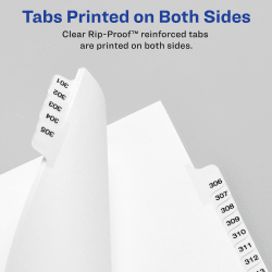 1 Set Avery Legal Dividers 25 Tabs per Set A-Z Letter Size 01400 Standard Collated Sets Side Tabs