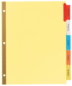 AVERY 7278211109 Avery® Big Tab™ Insertable Dividers 11109 Buff Paper 5