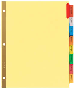 Avery Big Tab Insertable Dividers 8-Tab Set, Multicolor (11111 ...