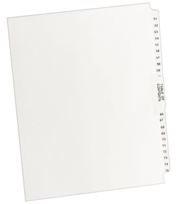 Title: 63 25//Pack Letter Avery 01063 Avery-Style Legal Exhibit Side Tab Divider White