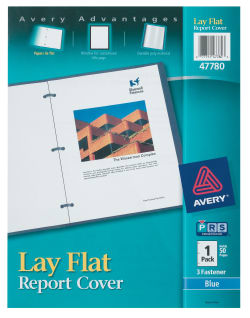 avery lay flat report cover blue 47780 avery com