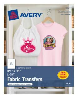 avery t shirt transfers 8 1 2 x 11 6 transfers 3271 avery com