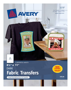 Avery® Dark T-Shirt Transfers, Matte, 8-1/2