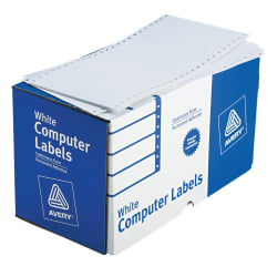 avery continuous form computer labels 5 x 2 15 16 000 labels 4076