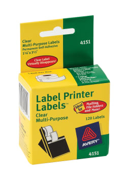 Avery® Multipurpose Labels, Dymo®, Seiko® and Zebra® Printers, 1-1/8