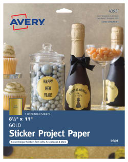avery sticker project paper gold 3 labels 4393 avery com