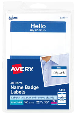 avery name badge labels 2 1 3 x 3 3 8 100 badges 5141 avery com