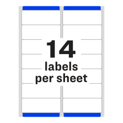 Avery Easy Peel Address Labels Sure Feed Technology Permanent Adhesive 1 1 3 X 4 1 400 Labels 5162