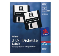 """Template for avery 6490 3-1/2""""diskette labels 8-1/2"""" x 11."""
