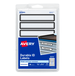 avery durable id labels black border 5 8 x 3 1 2 35 labels 5212