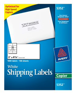 Avery shipping labels for copiers 2 x 4 14 1000 labels 5352 avery shipping labels for copiers permanent adhesive 2 x 4 14 1000 labels 5352 saigontimesfo