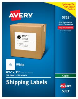 500 Half Sheet Shipping Labels w//receipt