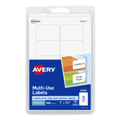 Avery removable labels 1 x 1 12 500 labels 5434 avery avery removable labels removable adhesive 1 x 1 12 500 labels 5434 saigontimesfo
