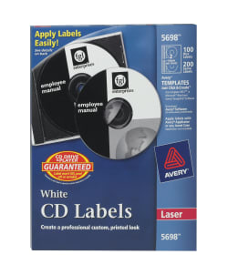 Avery CD Labels 100 Disc And 200 Spine 5698