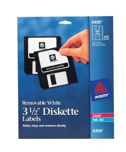 avery removable diskette labels 2 11 16 x 2 375 labels