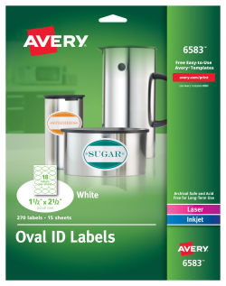 avery oval labels 1 1 2 x 2 1 2 270 labels 6583 avery com