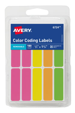 avery removable color coding labels handwrite only 180 labels
