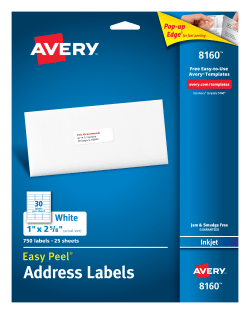 print avery address labels