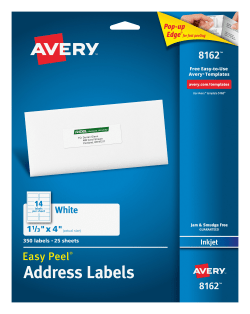 Avery easy peel address labels 1 13 x 4 350 labels 8162 avery easy peel address labels permanent adhesive 1 13 x 4 350 labels 8162 saigontimesfo