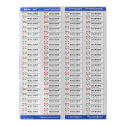 Avery Easy Peel Return Address Labels Sure Feed Technology Permanent Adhesive 1 2 X 1 3 4 2 000 Labels 8167