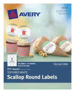 avery scallop round labels textured 90 labels 8218 avery com
