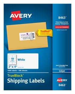 avery shipping labels permanent adhesive 1 000 labels 8463 avery com
