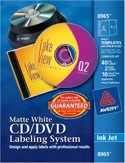 avery cd dvd labeling system matte 40 labels 8965 avery com