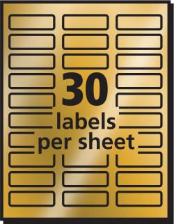 picture regarding Printable Trophy Labels named Avery® Foil Mailing Labels, Gold, 3/4\