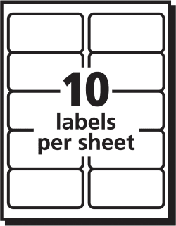 Avery Easy Peel Shipping Labels Clear 100 Labels (18663) | Avery.com