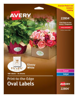 avery easy peel labels print to the edge oval 1 1 2 x 2 1 2 180