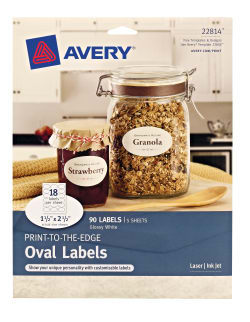 avery oval labels true print permanent adhesive 1 1 2 x 2 1 2 90