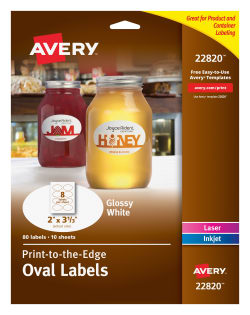 avery oval labels permanent adhesive 2 x 3 1 3 80 labels 22820