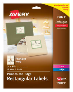avery rectangle labels pearlized ivory 48 labels 22823 avery com