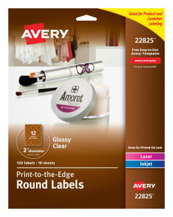 avery easy peel labels permanent adhesive 2 diameter 120 labels