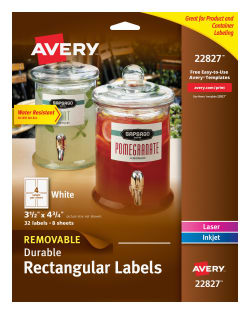 avery removable durable labels 3 1 2 x 4 3 4 32 labels 22827