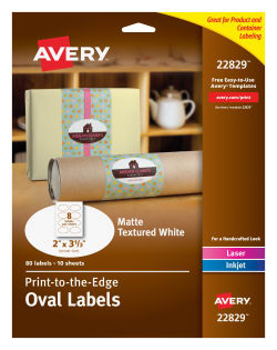 avery oval labels permanent adhesive 2 x 3 1 3 80 labels 22829