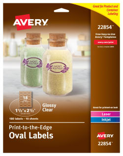 avery easy peel oval labels permanent adhesive 1 1 2 x 2 1 2 180